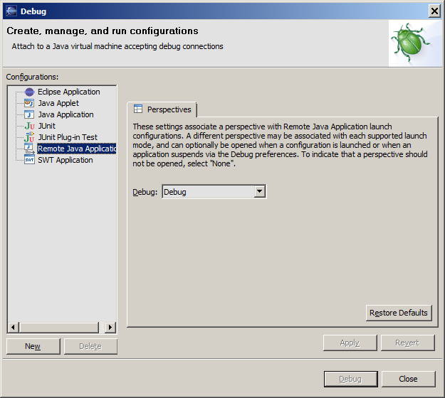 Debugging an Oracle Real-Time Decisions Project in Eclipse